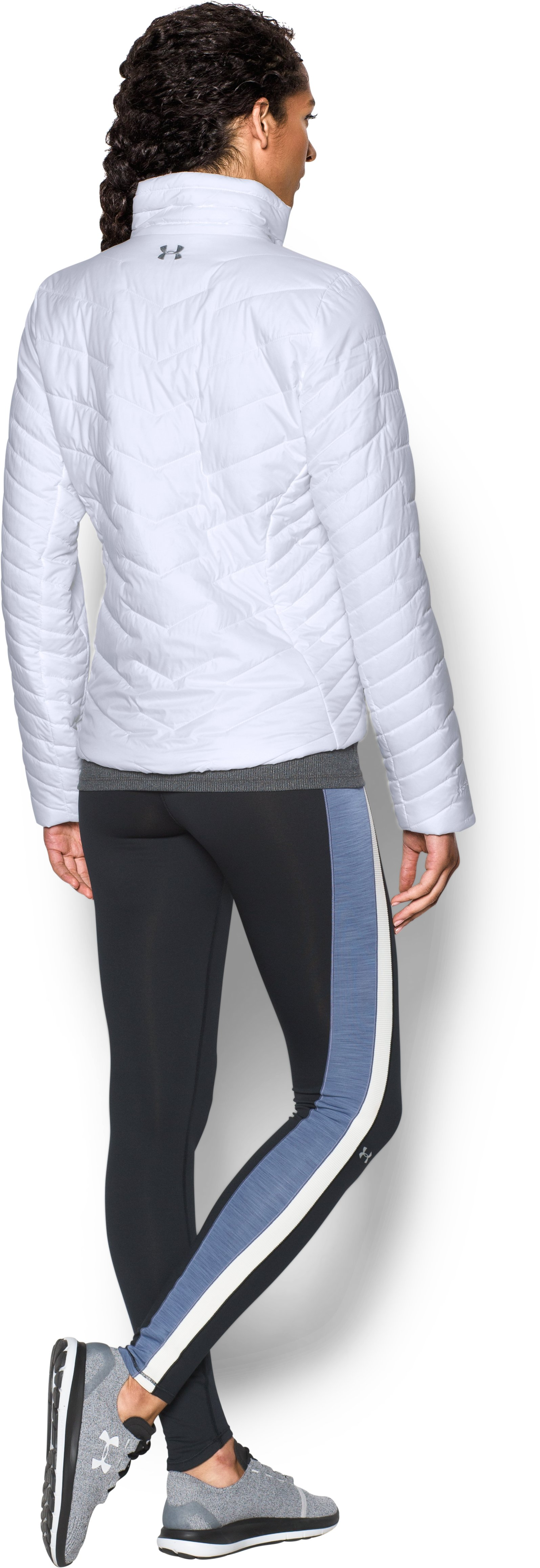 Women's UA ColdGear® Reactor Jacket, White, Back