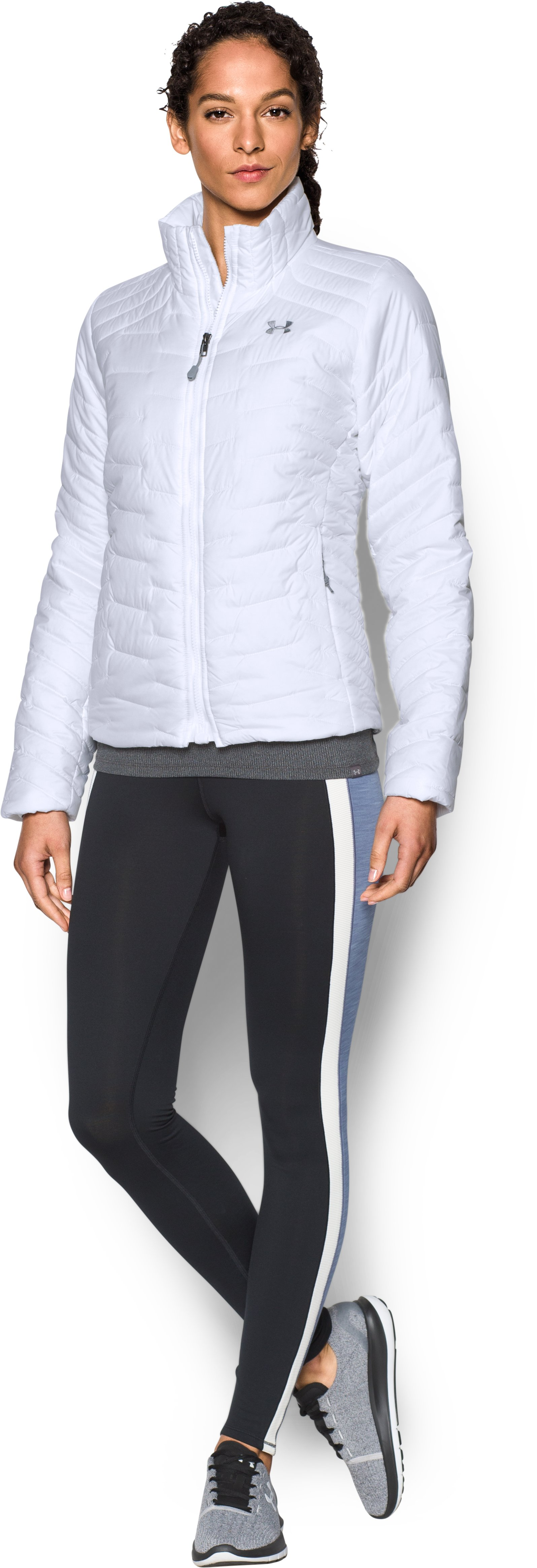 Women's UA ColdGear® Reactor Jacket, White, Front
