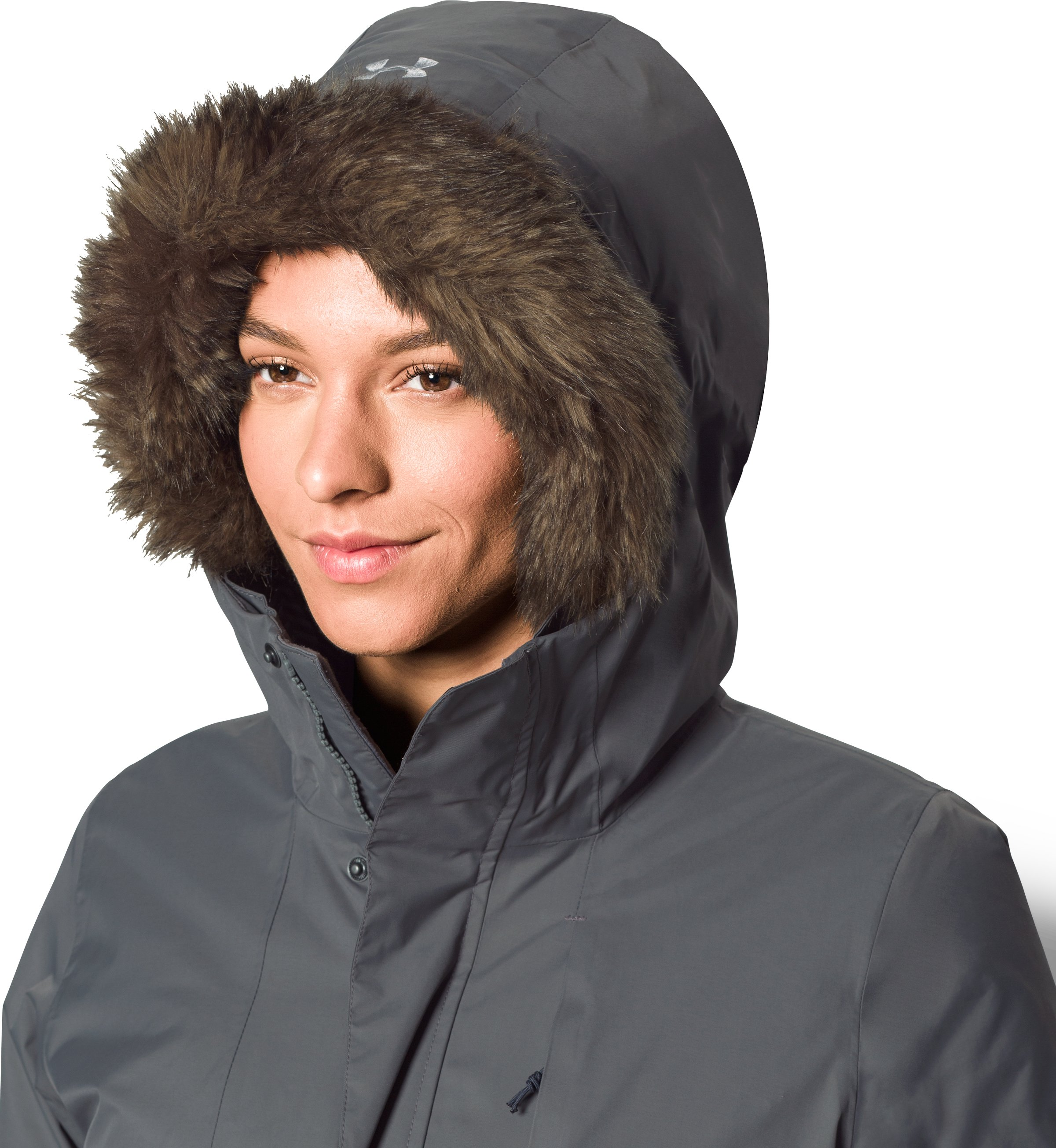 Women's UA ColdGear® Reactor Voltage Parka, GRANITE, undefined