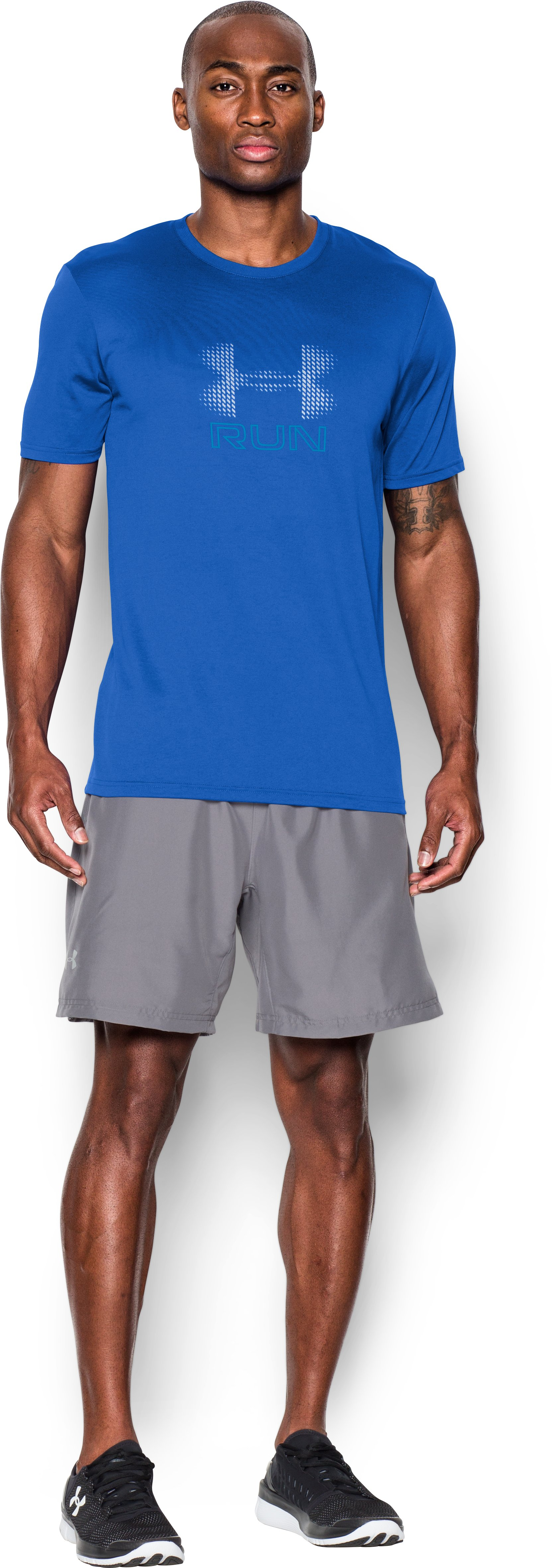 Men's UA Run T-Shirt , ULTRA BLUE, Front