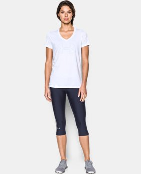 New Arrival  Women's UA Tech™ Branded V-Neck LIMITED TIME: FREE SHIPPING 1 Color $32.99