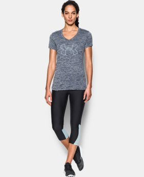 Women's UA Tech™ Twist Branded V-Neck