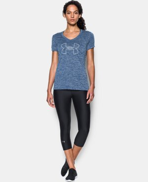 Women's UA Tech™ Twist Branded V-Neck LIMITED TIME OFFER + FREE U.S. SHIPPING 2 Colors $20.99