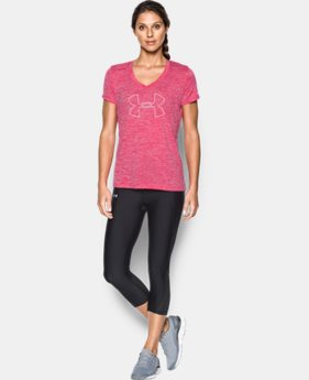 Women's UA Tech™ Twist Branded V-Neck LIMITED TIME: FREE SHIPPING 1 Color $27.99