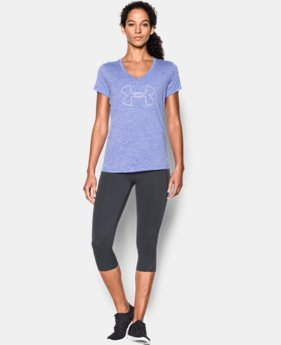 Women's UA Tech™ Twist Branded V-Neck  2 Colors $20.99 to $27.99