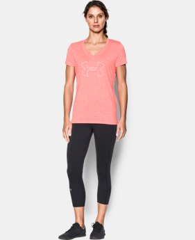 Women's UA Tech™ Twist Branded V-Neck  1 Color $27.99