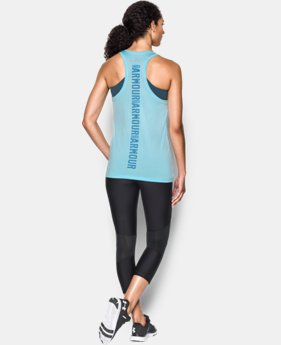 Best Seller Women's UA Tech™ Twist Branded Tank LIMITED TIME: FREE SHIPPING 1 Color $27.99