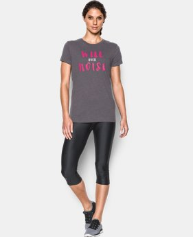 Women's UA Power In Pink® Will Over Noise Short Sleeve LIMITED TIME: FREE SHIPPING 1 Color $32.99