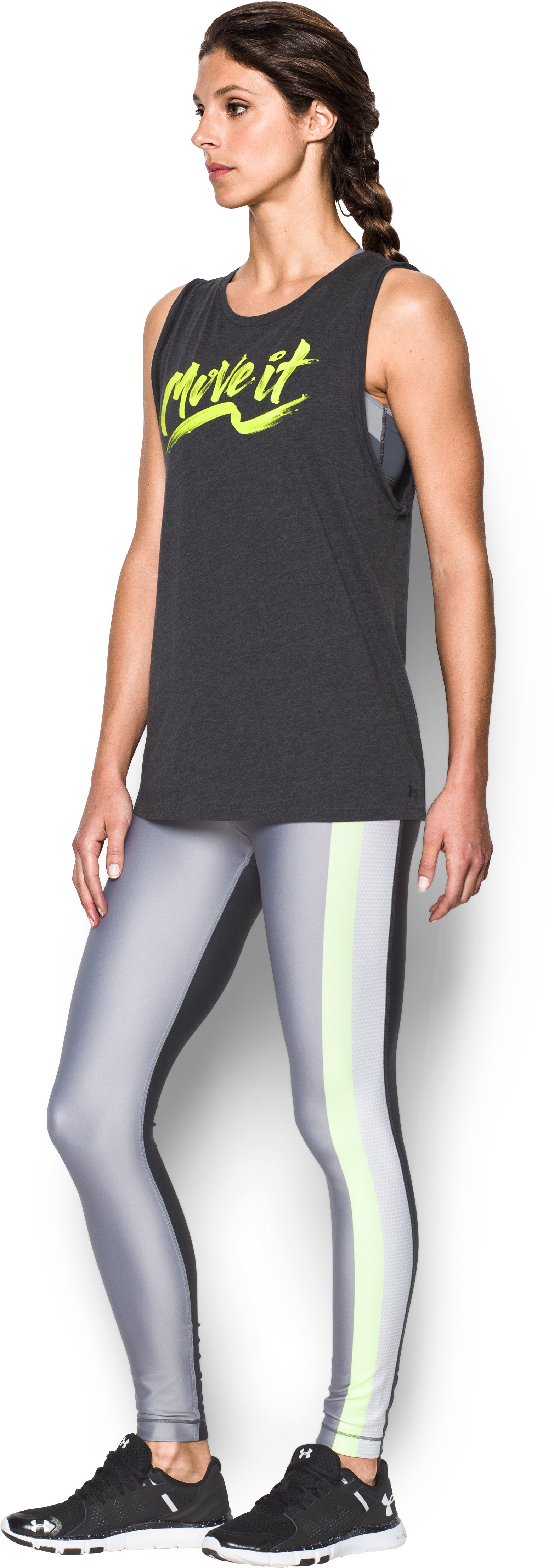 Women's UA Move It Muscle Tank, Carbon Heather