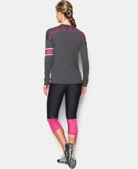 New Arrival  Women's UA Power In Pink® Favorite Long Sleeve LIMITED TIME: FREE SHIPPING 1 Color $49.99