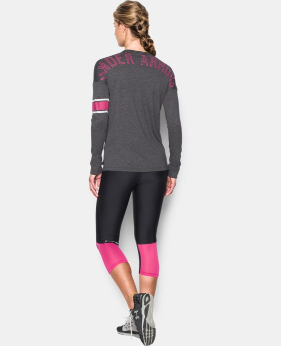 New Arrival  Women's UA Power In Pink® Favorite Long Sleeve LIMITED TIME: FREE SHIPPING  $37.99