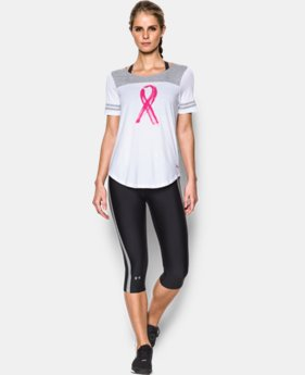 Women's UA Power In Pink® Baseball T LIMITED TIME: FREE SHIPPING 1 Color $34.99