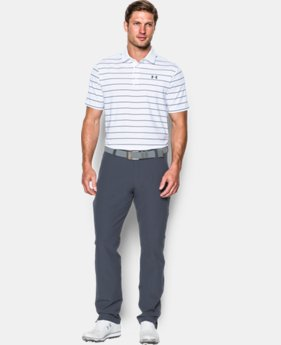 New Arrival  Men's UA coldblack® Swing Plane Stripe Polo LIMITED TIME: FREE SHIPPING 1 Color $79.99