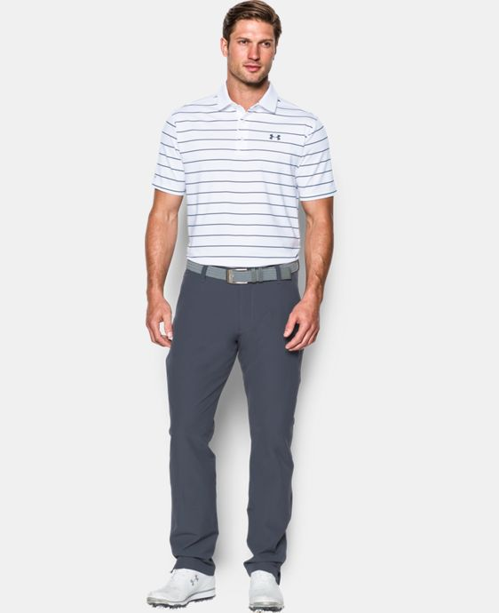 Best Seller Men's UA coldblack® Swing Plane Stripe Polo   $69.99