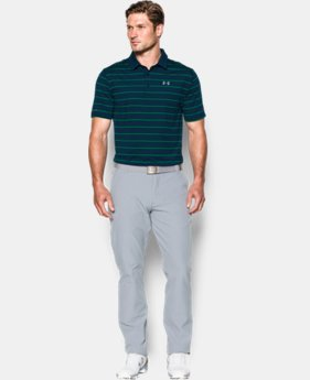 New Arrival  Men's UA coldblack® Swing Plane Stripe Polo  2 Colors $79.99