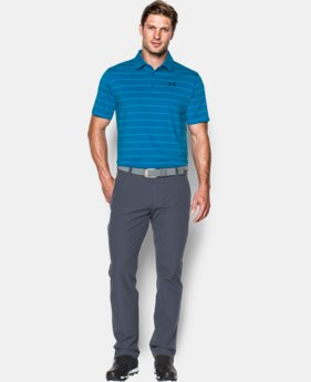 Best Seller Men's UA coldblack® Swing Plane Stripe Polo  2 Colors $69.99