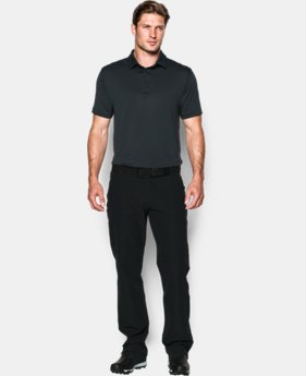 Men's UA coldblack® Tee Time Stripe Polo