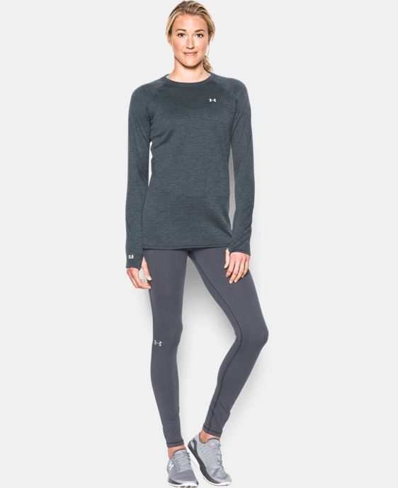 Women's UA Base™ 3.0 Crew Long Sleeve LIMITED TIME OFFER + FREE U.S. SHIPPING 2 Colors $56.24