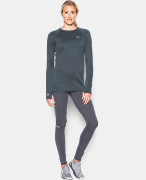 New Arrival  Women's UA Base™ 3.0 Crew Long Sleeve LIMITED TIME: FREE SHIPPING 1 Color $67.49