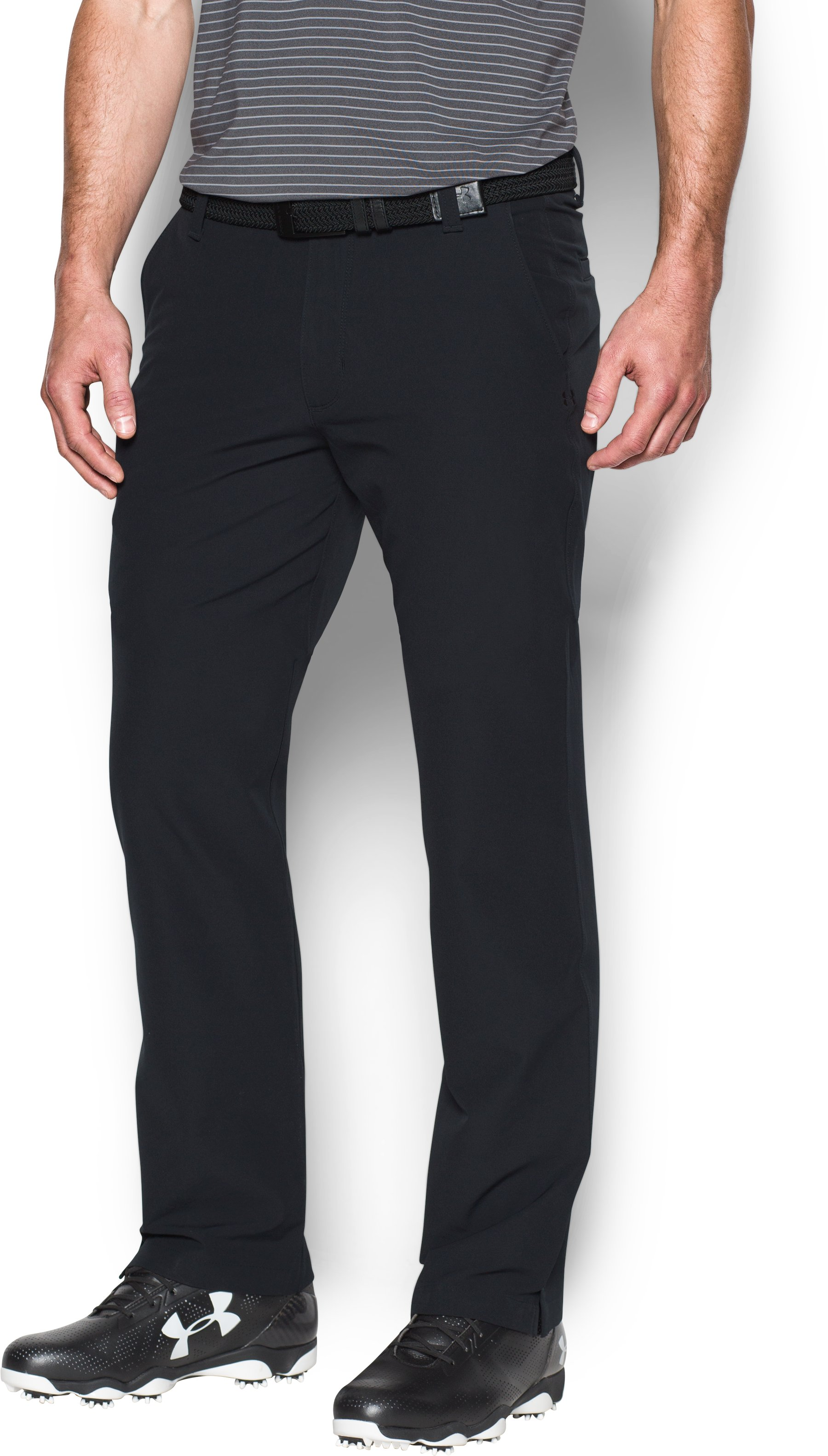 Men's ColdGear® Infrared Match Play Pants – Straight Leg, Black , zoomed image