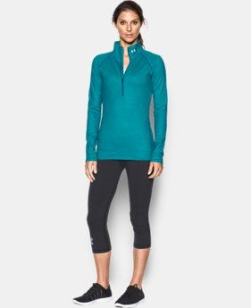 Women's UA ColdGear® Infrared EVO 1/2 Zip  1 Color $64.99