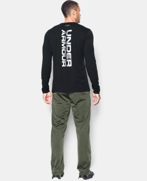 Best Seller  Men's UA Vertical Wordmark Long Sleeve T-Shirt   $34.99