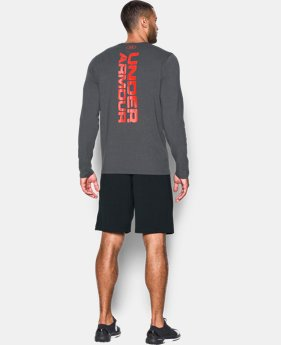 Men's UA Vertical Wordmark Long Sleeve T-Shirt  1 Color $26.99