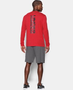 New Arrival  Men's UA Vertical Wordmark Long Sleeve T-Shirt LIMITED TIME: FREE SHIPPING 1 Color $34.99
