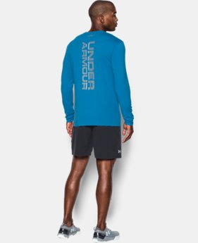 Men's UA Vertical Wordmark Long Sleeve T-Shirt  1 Color $29.99