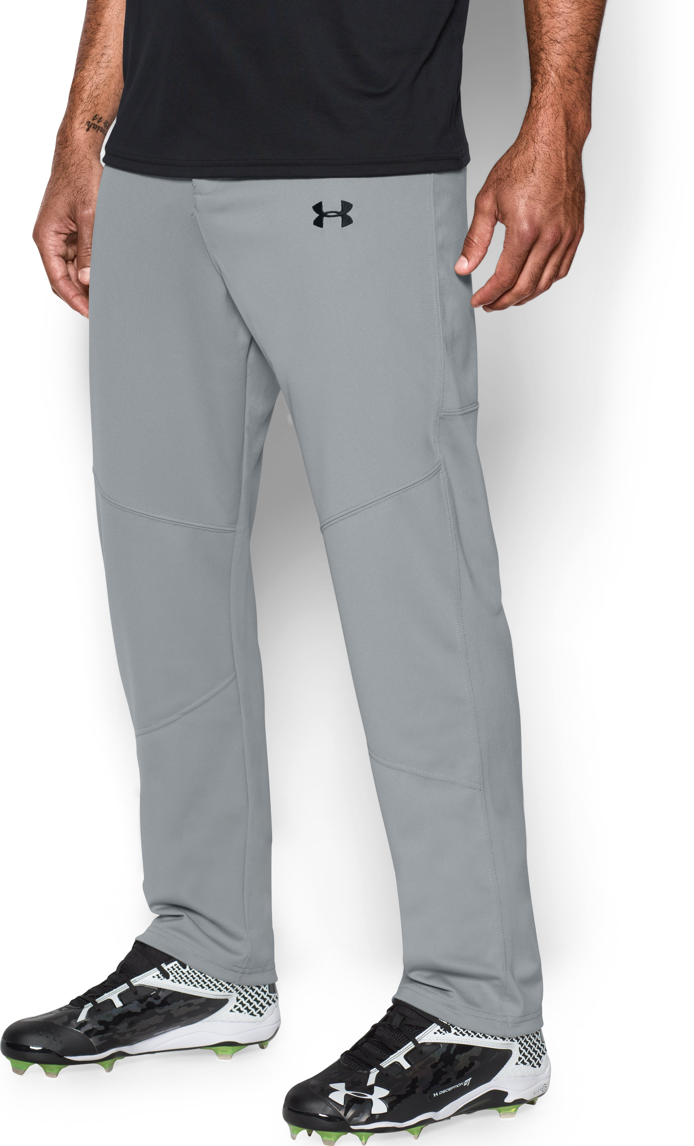 Men's UA Lead Off Baseball Pants, Baseball Gray, zoomed image