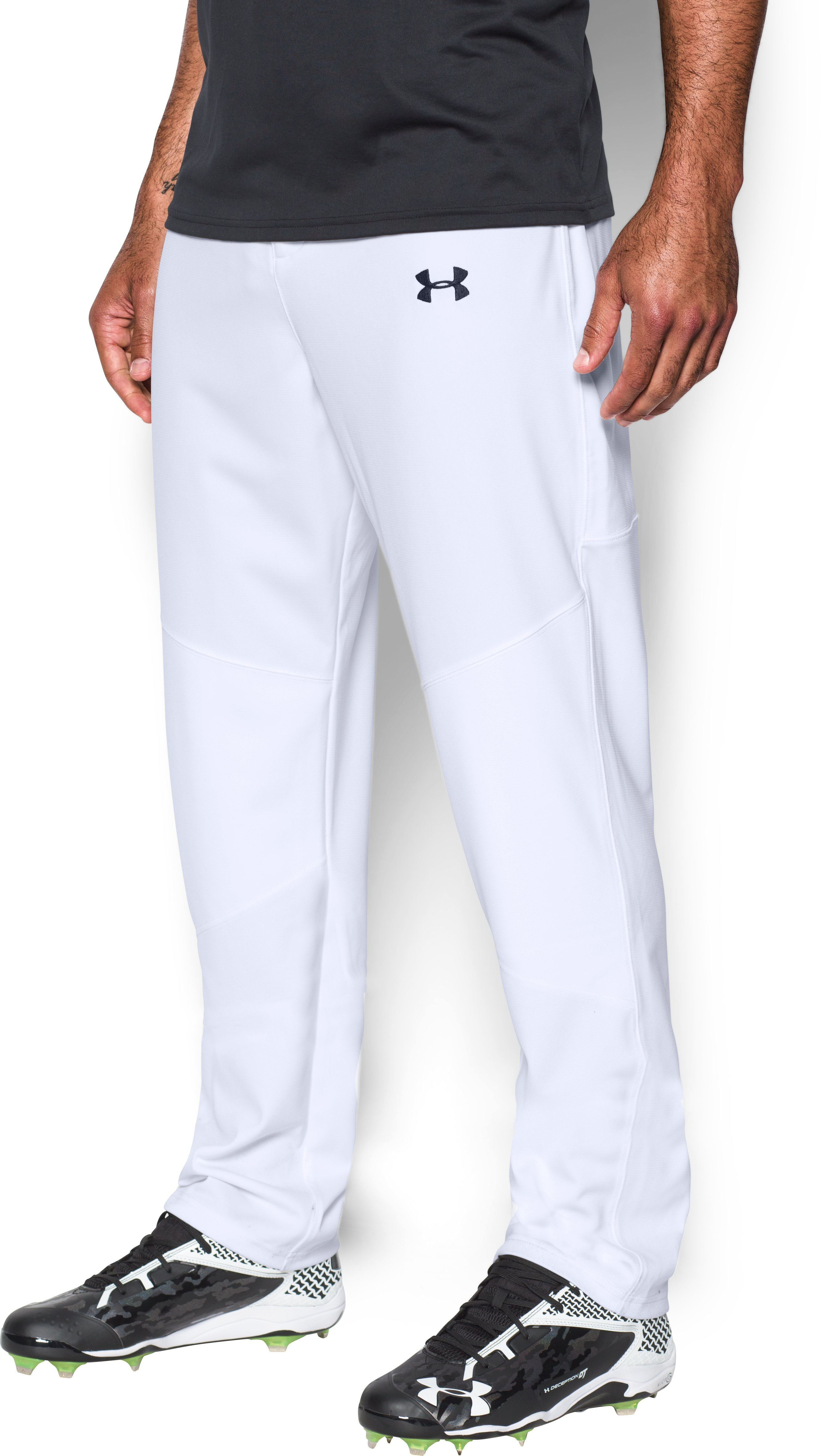 Men's UA Lead Off Baseball Pants, White, undefined
