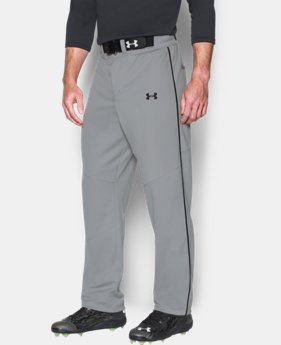 New to Outlet Men's UA Lead Off Piped Baseball Pants  1 Color $27.99