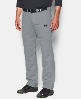 New to Outlet Men's UA Clean Up Baseball Pants  2  Colors Available $17.99