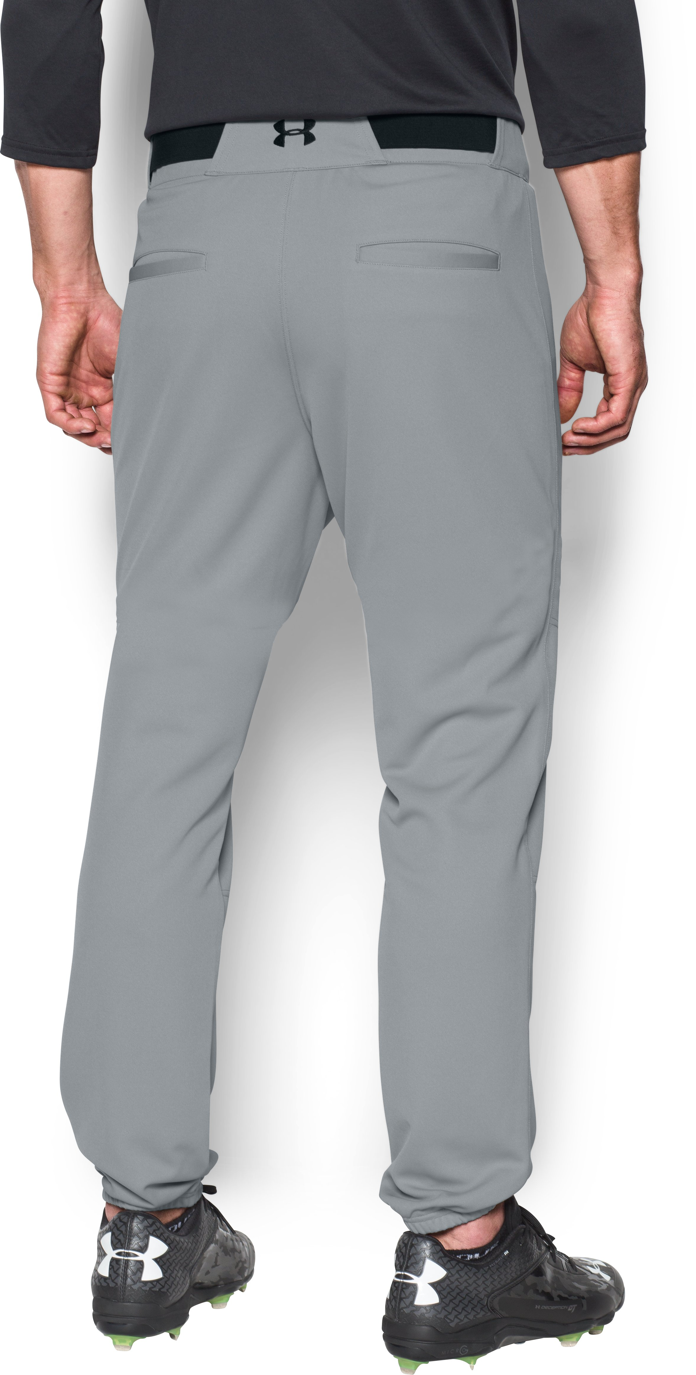 Men's UA Clean Up Cuffed Baseball Pants, Baseball Gray,