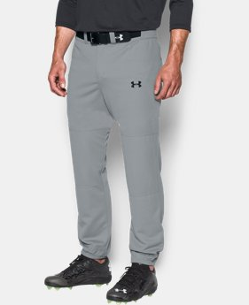 New to Outlet Men's UA Clean Up Cuffed Baseball Pants  2  Colors Available $17.99
