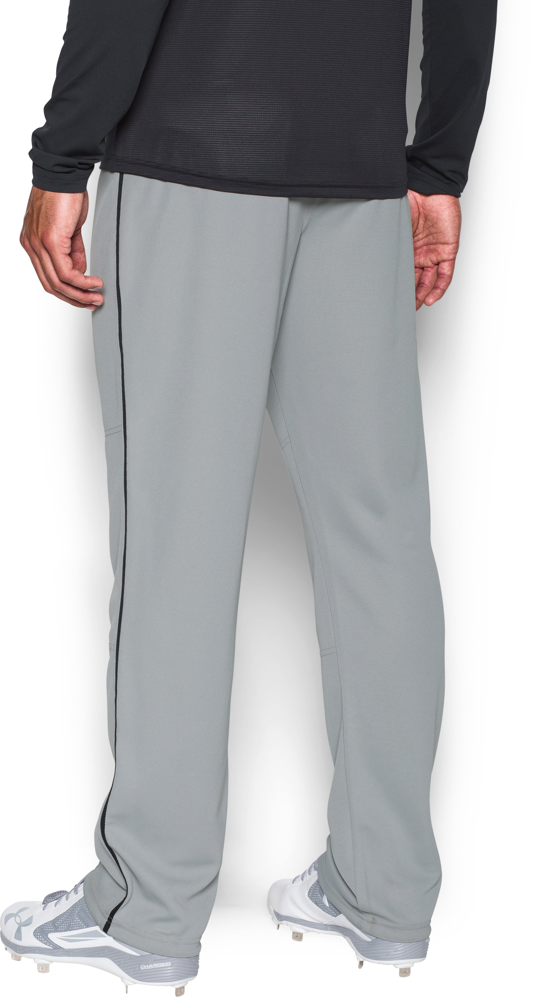 Men's UA Clean Up Piped Baseball Pants, Baseball Gray,
