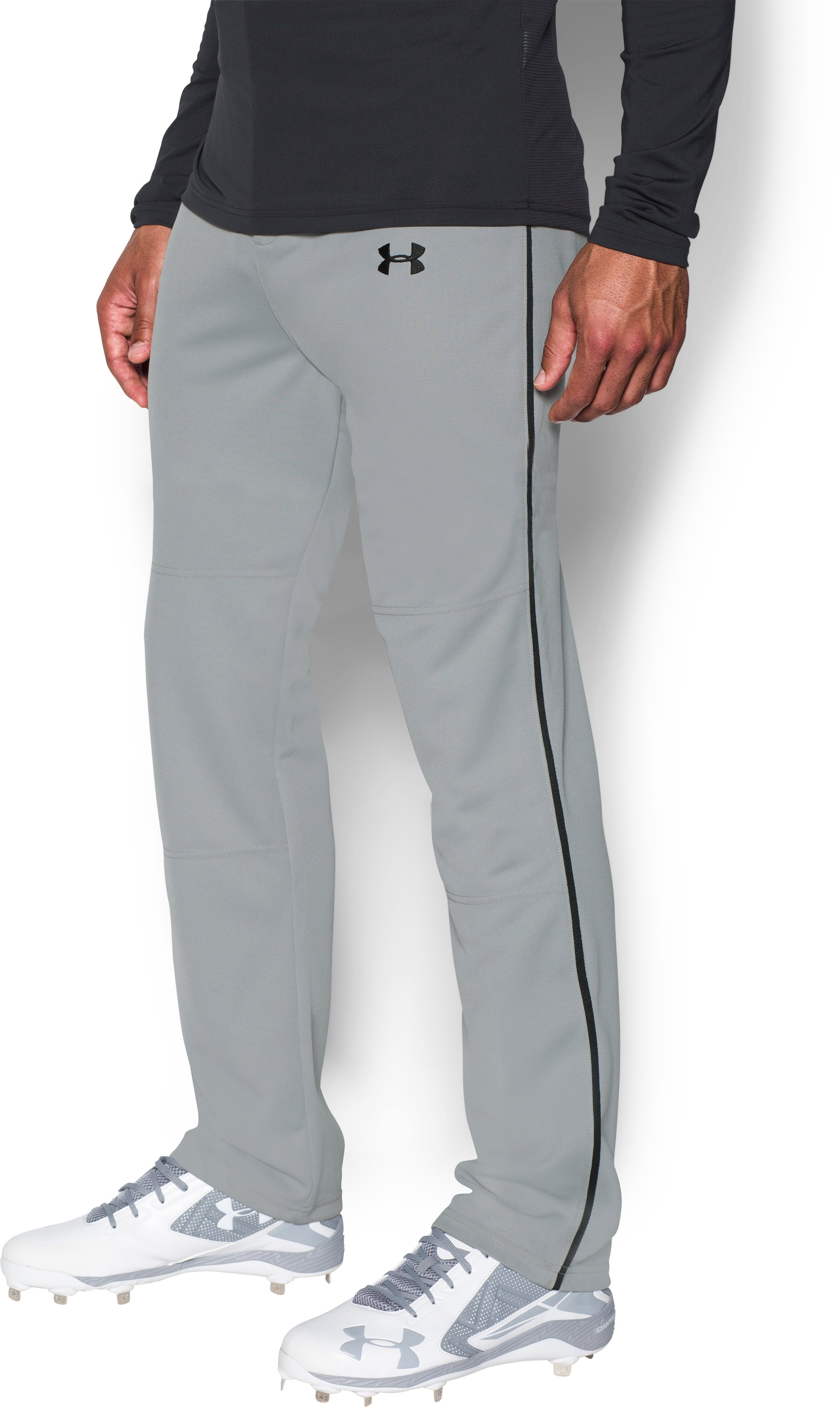 Men's UA Clean Up Piped Baseball Pants, Baseball Gray