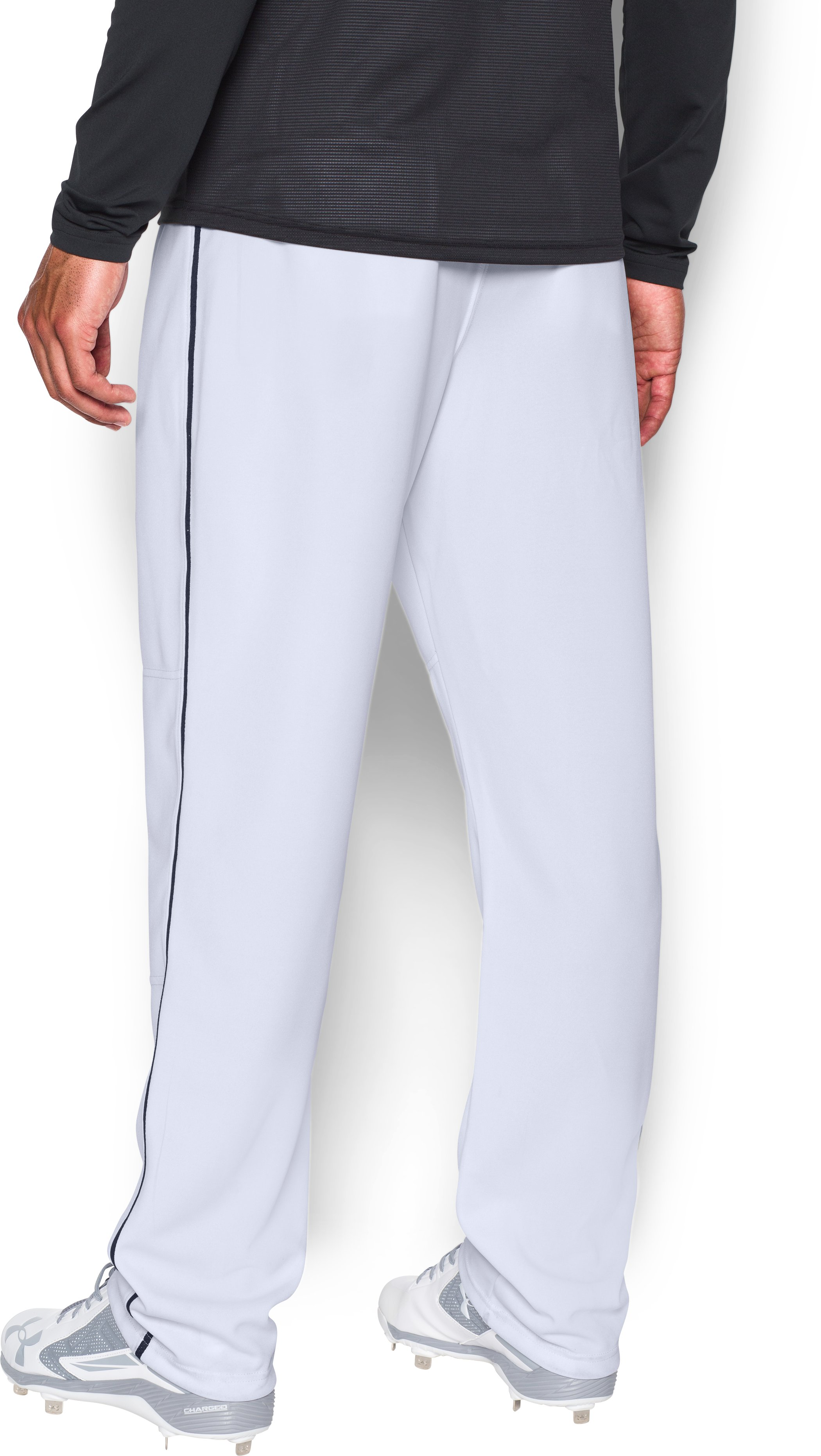 Men's UA Clean Up Piped Baseball Pants, White,