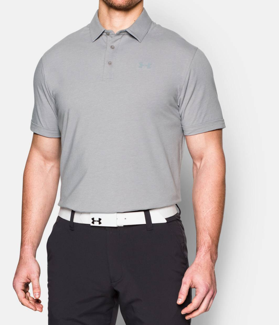 Polos Polo Golf Shirts Under Armour Us Kaos Blue Baby Mens Charged Cotton Scramble 3 Colors Available 4499