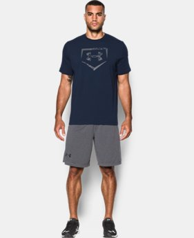 New Arrival  Men's UA Baseball Plate Logo T-Shirt  LIMITED TIME: FREE SHIPPING  $29.99