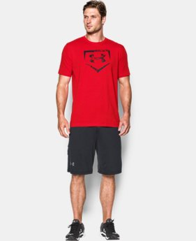 Men's UA Baseball Plate Logo T-Shirt   4 Colors $29.99
