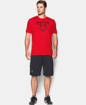 Men's UA Baseball Plate Logo T-Shirt  LIMITED TIME: FREE SHIPPING 1 Color $29.99