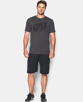 New Arrival  Men's UA Baseball Crack The Bat T-Shirt    $29.99