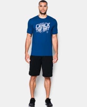 Men's UA Baseball Crack The Bat T-Shirt  1 Color $13.49