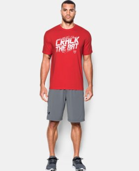 New Arrival  Men's UA Baseball Crack The Bat T-Shirt  LIMITED TIME: FREE SHIPPING 1 Color $29.99