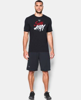 New Arrival  Men's UA Baseball Swing Angry T-Shirt  LIMITED TIME: FREE SHIPPING  $29.99