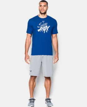 New Arrival  Men's UA Baseball Swing Angry T-Shirt  LIMITED TIME: FREE SHIPPING 1 Color $29.99