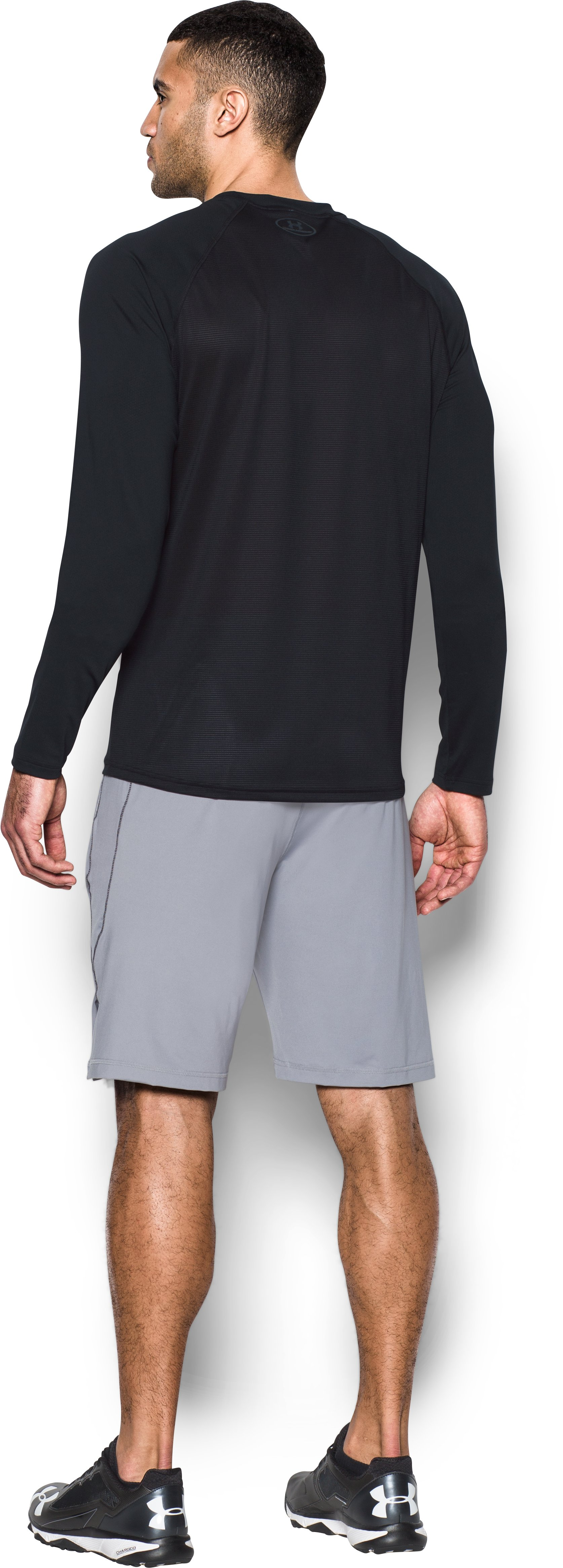 Men's UA Baseball Training Long Sleeve, Black , Back