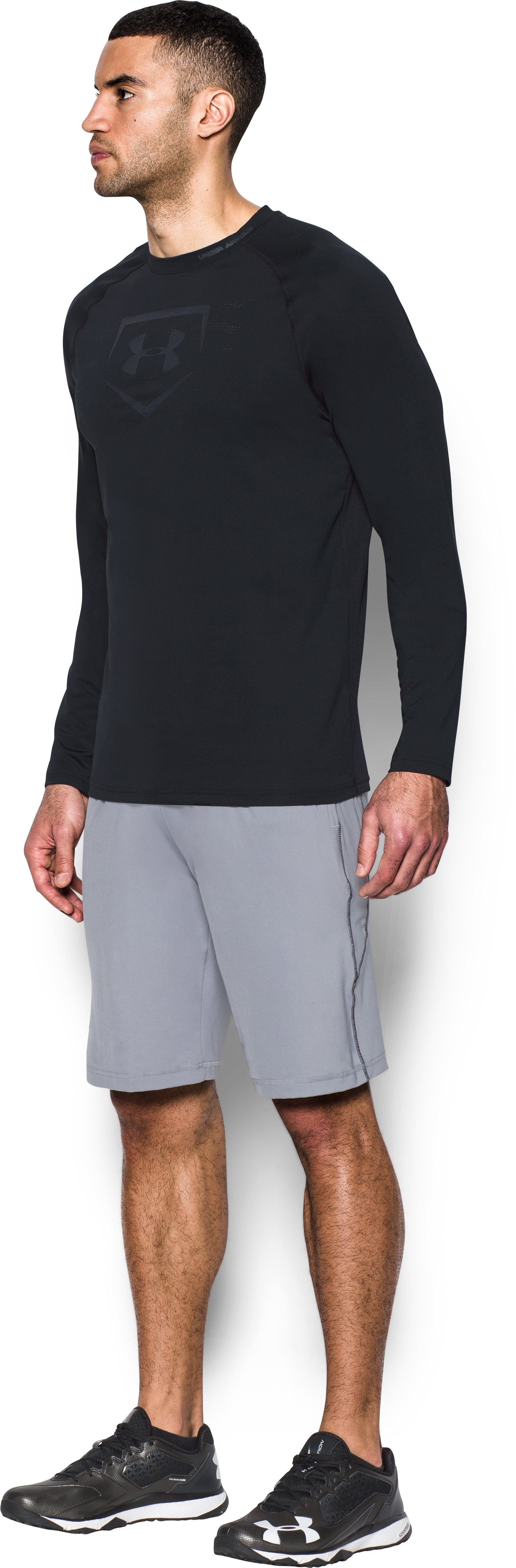 Men's UA Baseball Training Long Sleeve, Black