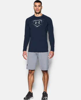 New Arrival Men's UA Baseball Training Long Sleeve   1 Color $39.99